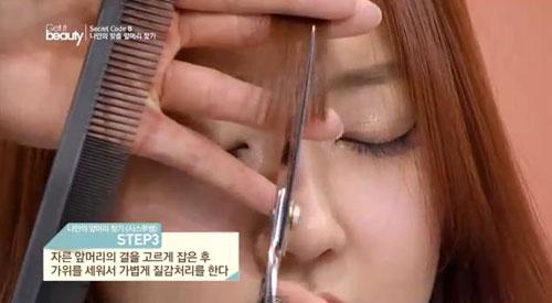 Kiểu tóc mái hợp với khuôn mặt to béo mũi thấp